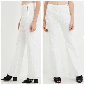 NEW Life in Progress High Waist Flare White Jeans